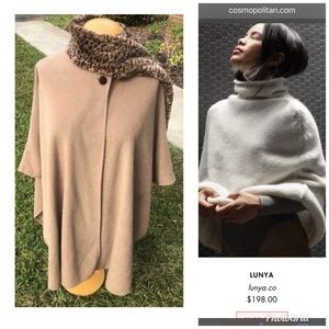 Steel the style. Brown/ cheetah print poncho cape